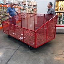 Expanded Metal Mobile Warehouse Club Bin 2