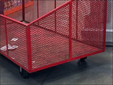 Expanded Metal Mobile Warehouse Club Bin 4