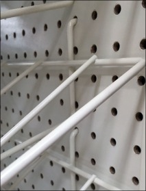Gravity Feed Roll Rack for Pegboard 3
