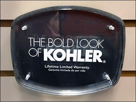 Kohler Slatwall Logo Plaque Main