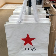 Macys Branded Canvas Tote Dispenser Feature