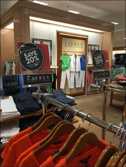 Ralph Lauren Branded Sale Sign Holders 0