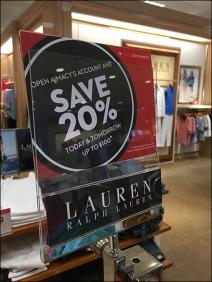Ralph Lauren Branded Sale Sign Holders 3