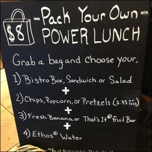 StarBucks Grab-N-Go Power Lunch Assortment Sign Square