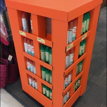 Summer Insect Repellent Orange Corrugated Display 2