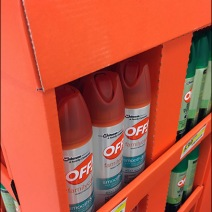 Summer Insect Repellent Orange Corrugated Display 3