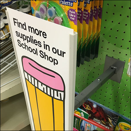 Back-To-School Cros Sell Faceout Sign Feature