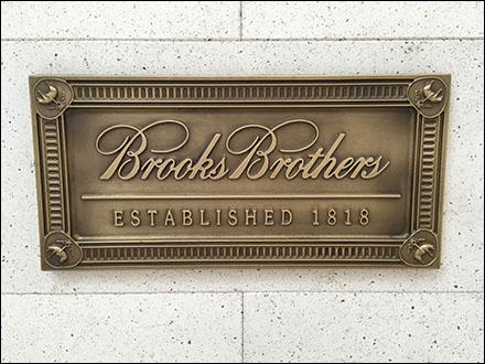 Brooks Brothers Plaque Established 1818 Main