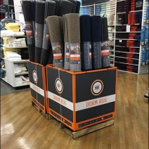 Dorm Rug Equip Your Space Pallet Display 1