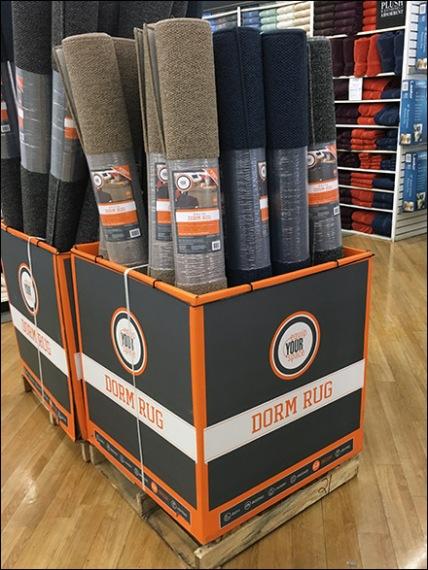 Dorm Rug Equip Your Space Pallet Display 2