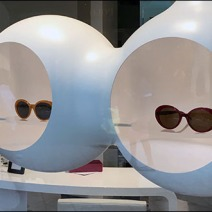 Futuristic Suspended Sunglass Niches 3