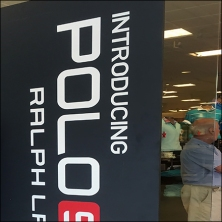 Polo Sport Freestanding Vertical Signage Feature