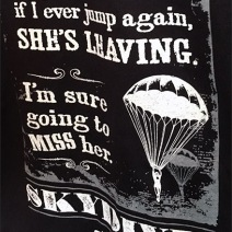 Skydiver T-Shirt Merchandising Aux