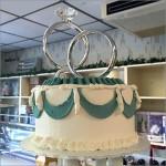 Bakery Delight Engagement Ring Wedding Cake Topper Square