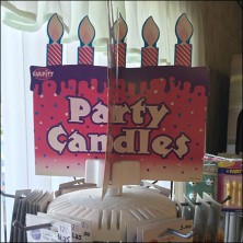 Bakery Delight Party Candle Table Top Spinner Feature