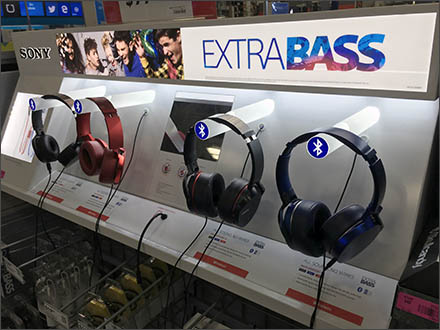 Best Buy Headphones by Sony Extra Bas Display Main