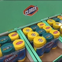 Clorox® Trapazoid Half-Pallet Corrugated Display 3