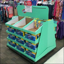 Clorox® Trapazoid Half-Pallet Corrugated Display Feature