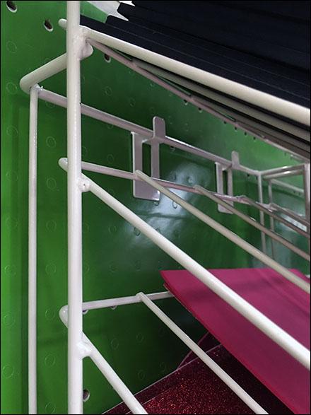 Declined Foam Sheet Rack Pin-Up Hook 1