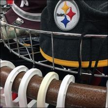 Fenced Circular Cap Rack In Apparel Feature