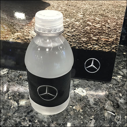 Mercedes Benz Manhattan Branded Water Feature