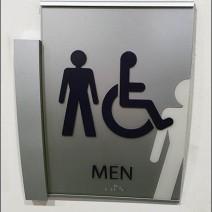 Mercedes Benz Manhattan C-Channel Restroom Ghost Sign 1