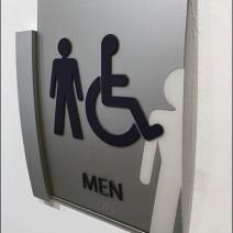 Mercedes Benz Manhattan C-Channel Restroom Ghost Sign 2