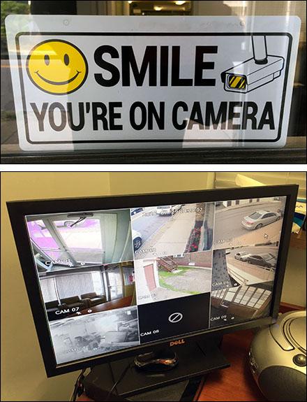 Smile Video Camera Surveillance Warning Main
