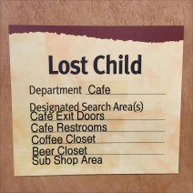Wegmans Lost Child Checklist Feature