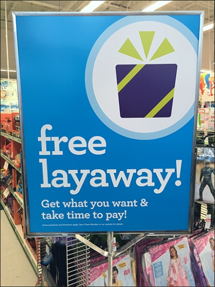 What you can put on Layaway at Walmart: