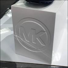 Michael Kors Logo Embossed Pedestal Block Feature